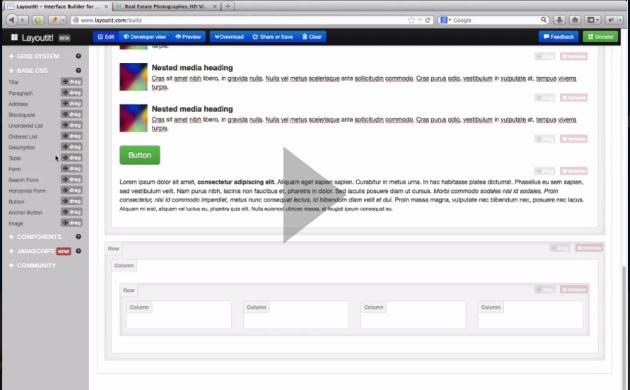 Crea diseños en bootstrap de manera visual y sencilla con LayoutIt!