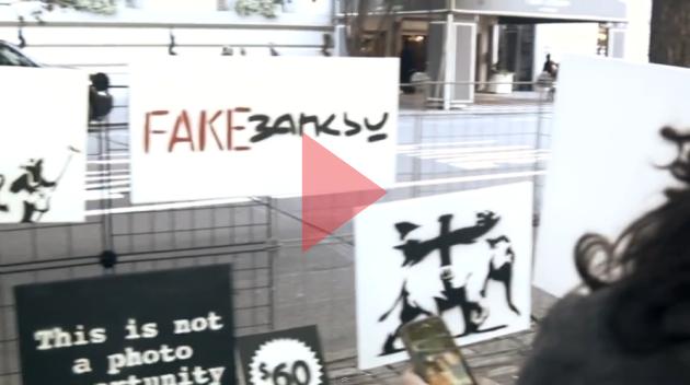 Venta de imitaciones de obras de Banksy